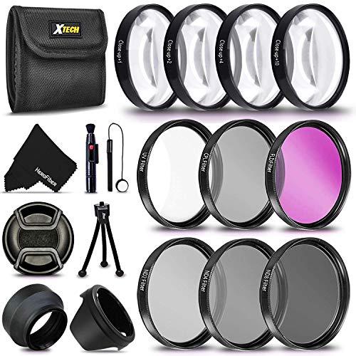 PRO 52MM Filters + 52mm Lens Hood KIT for Nikon AF-S DX Zoom-NIKKOR 18-55mm f/3.5-5.6G ED II, Nikon AF-S DX NIKKOR 18-55mm f/3.5-5.6G VR II, Nikon AF-S DX NIKKOR 55-200mm f/4-5.6G ED VR II Lenses