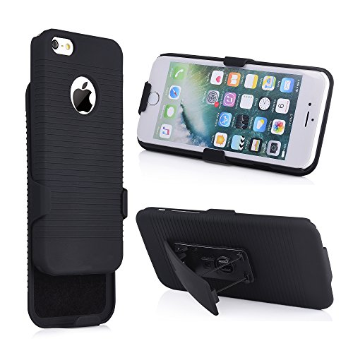 Chuangxinfull iPhone 4S Combo Case, Super Slim Hard Shell Layer Holster Open-Face Sport Case Holster Kickstand Locking Belt Swivel Clip for Apple iPhone 4S (iPhone 4s)