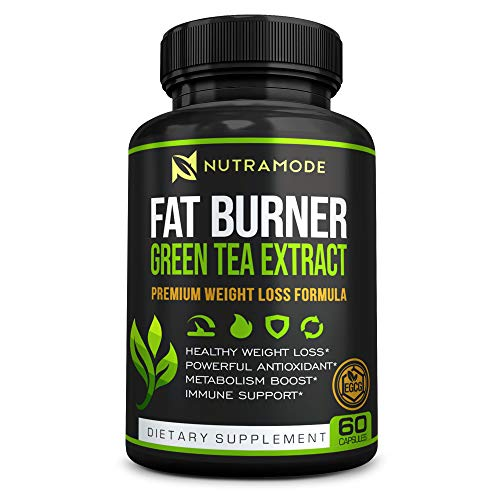 Premium Green Tea Extract Fat Burner Supplement with EGCG-Natural Appetite Suppressant-Healthy Weight Loss Diet Pills That Work Fast for Women and Men-Detox Metabolism Booster to Burn Belly Fat Fast