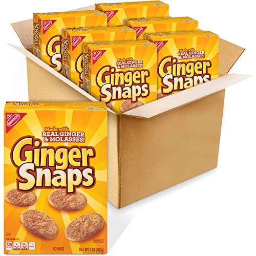Ginger Snaps Cookies, 6 - 16 oz Boxes