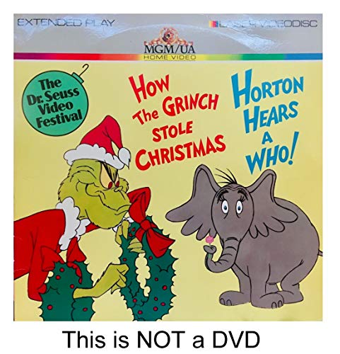 How the Grinch Stole Christmas + Horton Hears A Who 12' Double Feature Laserdisc