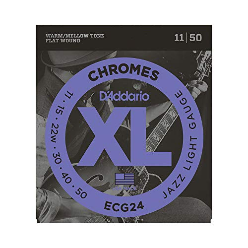 D'Addario Guitar Strings Set, Chromes, Jazz Light