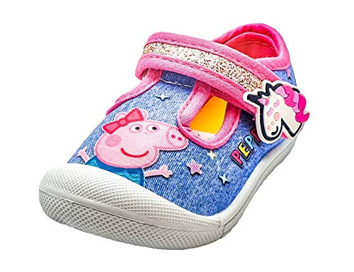Peppa Pig Girls Shoes in Blue and Pink