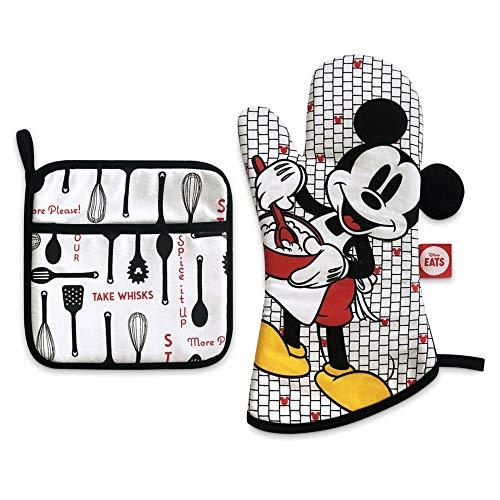 Disney Mickey Mouse Pot Holder and Oven Mitt Set – Disney Eats