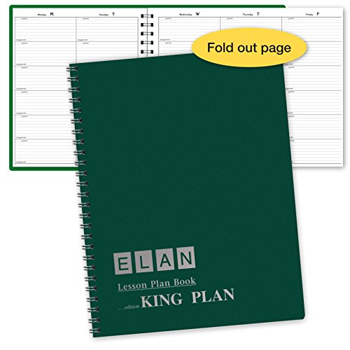6 Period Extra Large Teacher Lesson Plan; Days Horizontally Across The Top (King Plan)