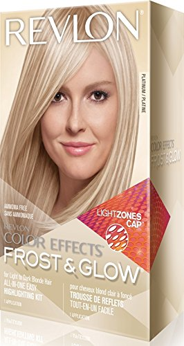 Revlon Colorsilk Color Effects Frost and Glow Hair Highlights, At-Home Hair Dye Kit for Natural, Color-Treated & Permed Hair, Platinum, 1 Count