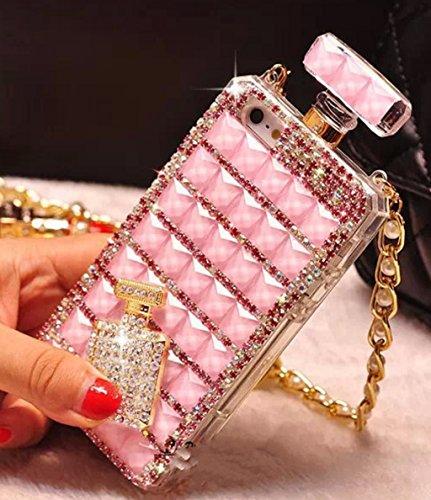 Goodaa for iPhone 6/6S Case,iPhone 6/6S Diamond Perfume Bottle Case, Luxury Elegant Diamond Perfume Bottle Crystal Rhinestone Cover Case for iPhone 6/6S