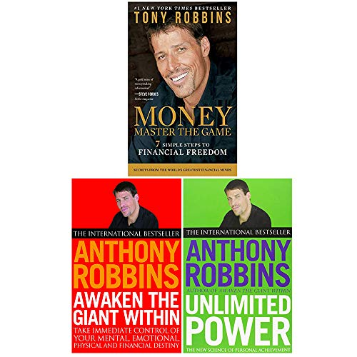 Tony Robbins Collection 3 Books Set (Awaken The Giant Within, Unlimited Power, Money Master the Game)