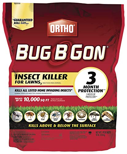 Ortho Bug B Gon Insect Killer for Lawns3. - Kills Ants, Fleas, Ticks, Chinch Bugs, Mole Crickets and Cutworms - Use on Lawns, Ornamentals and Home Perimeter, 10 LB