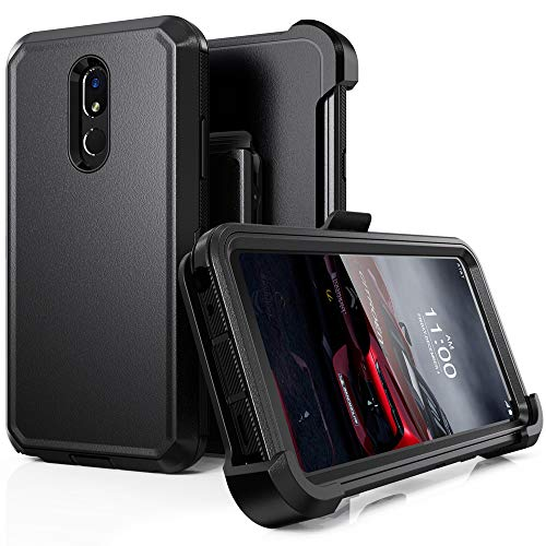 LG Stylo 5 Case, LG Stylo 5 Plus/LG Stylo 5V Case,Heavy Duty Hard Shockproof Protector Shield Case Cover with Belt Clip and Kickstand for LG Stylo 5 (Black)