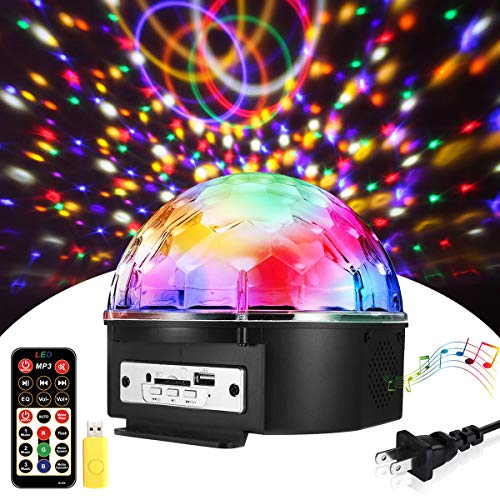 Sound Activated Party Lights with Remote Control,SOLMORE Disco lights Dj Lighting Disco Ball 9 Colors Strobe Lamp 7 Modes Stage Par Light Club Party Gift Kids Birthday Wedding Home Karaoke Dance