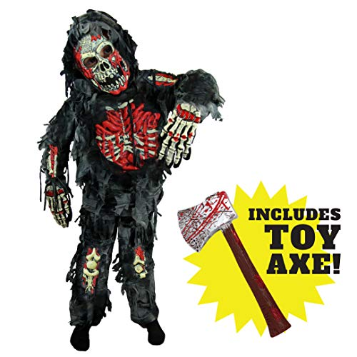 Spooktacular Creations Zombie Deluxe Costume for Child with Bloody Axe (S(5-7)) Black