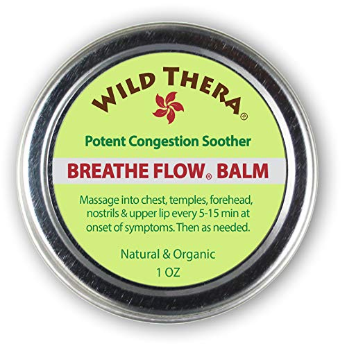 Wild Thera Breathe Flow Balm for Sinus Relief and Congestion. Natural Sinus Medicine for Blocked Nasal passages & Chest Congestion Relief. Respiratory Help & Allergy Relief Medicine.