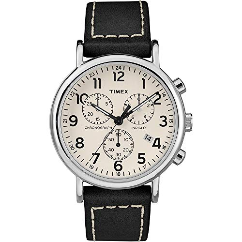 Timex Mens Weekender Chronograph 40mm Watch - White Dial/Black [TW2R42800JV]