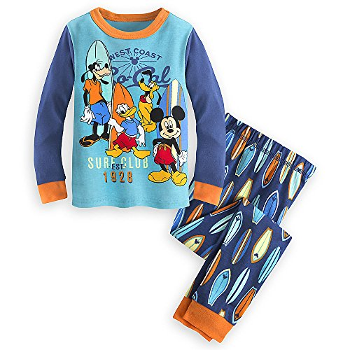 Disney Store Mickey Mouse and Friends Fab 4 Ever PJ PALS Pajamas Set for Boys, Size 4 Blue