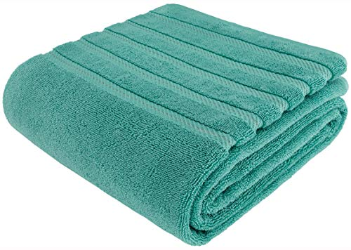 American Soft Linen 100% Turkish Genuine Cotton Large, Jumbo Bath Towel 35x70 Premium & Luxury Towels for Bathroom, Maximum Softness & Absorbent Bath Sheet [Worth $34.95] - Turquoise Blue