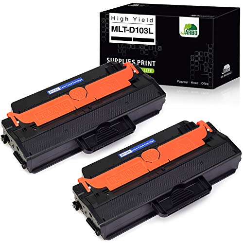 JARBO Compatible Toner Cartridges Replacement for Samsung 103L MLT103 MLT-D103L MLTD103L, High Yield, Use with Samsung ML-2955ND ML-2955DW ML-2950ND SCX-4729FW SCX-4729FD Printer, 2 Black
