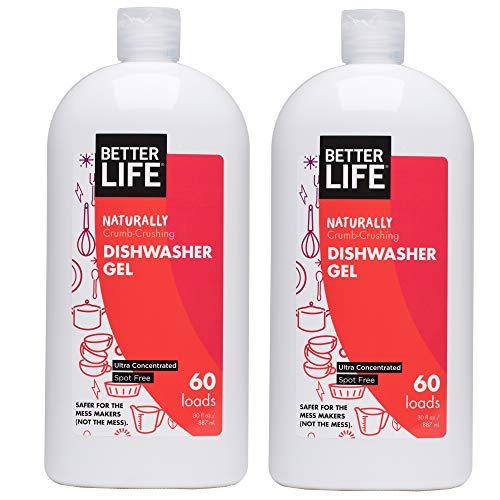 Better Life Natural Dishwasher Gel Detergent, 30oz (Pack of 2), 24073