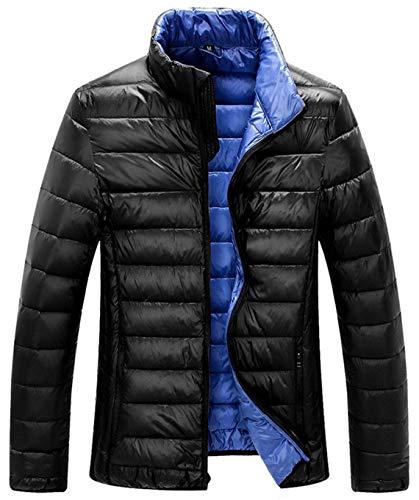 ZSHOW Men's Lightweight Down Coat Windproof Packable Windbreaker Jacket(Black,X-Large)