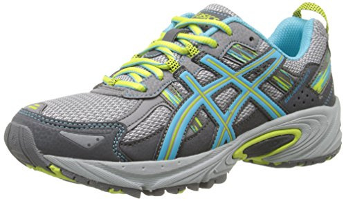 ASICS Women's Gel-Venture 5 Running Shoe, Silver Grey/Turquoise/Lime Punch, 7.5 D US