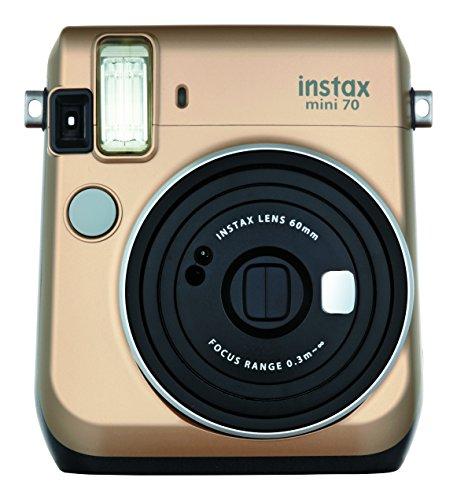 Gold Colour FujiFilm Fuji Instax Mini 70 Instant Photos Films Polaroid Camera by DJS Commerce