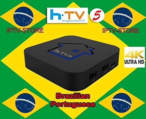 HTV5 6 Brazilian Channels TV Box – Better Then A2 A3 4K Brazilian IP TV6 8 Channels – Over 300 Brazilian Box Channels – Performant System Brasil Canasis –Brazilian tv Shows Channel and Much More