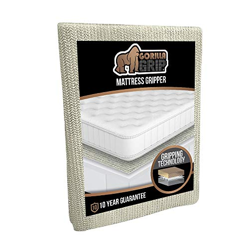 GORILLA GRIP Original Slip Resistant Mattress Gripper Pad, Helps Stop Bed and Topper from Sliding, Stopper Works on Sofa, Futon, and Couch, Easy to Trim Size, Strong, Durable Grips Help Slipping, Full