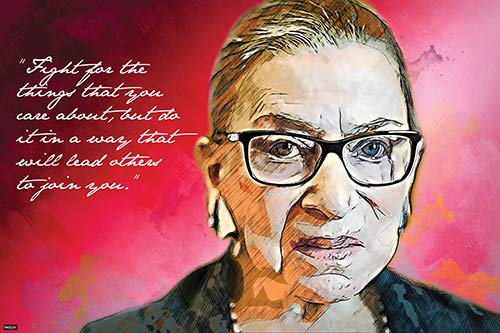 Justice of The US Supreme Court Ruth Bader Ginsburg Quote Poster 24x36 Home Decor Print - 24x36