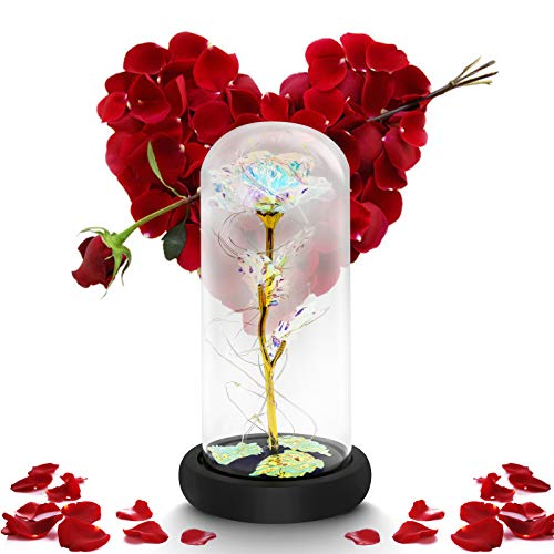 Galaxy Flower Rose Gifts Artificial Flower Forever Gifts for Girlfriend Mom Birthday Valentine Anniversary Mothers Day Valentines Day Gifts for Her