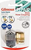Gilmour 100049168 Metal Heavy Duty Zinc and Brass Male Clamp Coupling, 5/8' x 3/4'