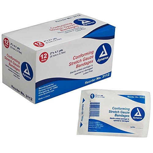 Dynarex Stretch Gauze Bandage Roll Ster 2' x 4.1 yds (12/Pack)