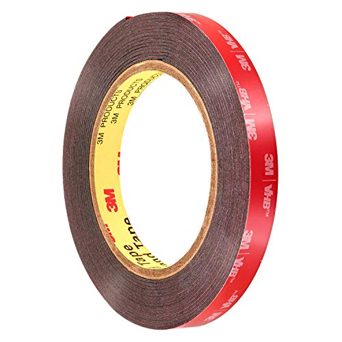 3M Genuine 1/2' (12mm) x 15 Ft VHB Double Sided Foam Adhesive Tape 5952 Grey Automotive Mounting Very High Bond Strong Industrial Grade (1/2' (w) x 15 ft)