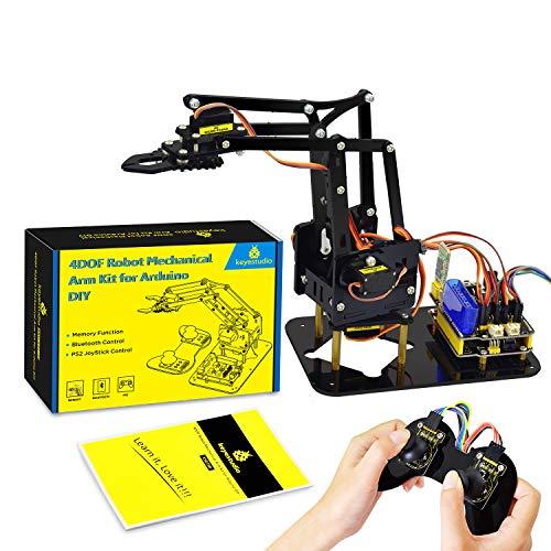 KEYESTUDIO Robot Arm Starter Kit for Arduino Coding Robotics Toys for Adults Teens Kids Electronic Programming Project STEM Education