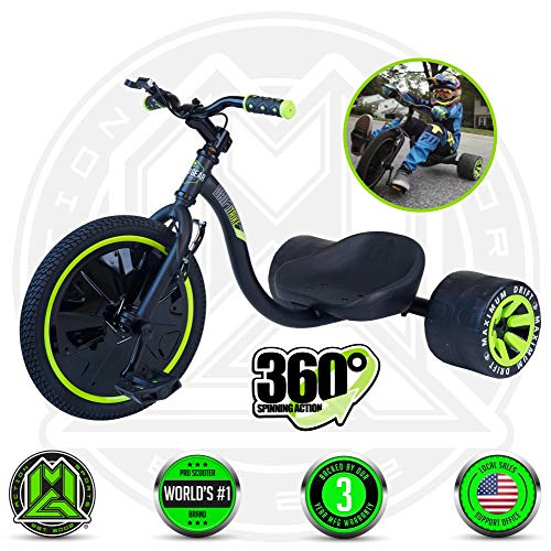 Madd Gear MGP Action Sports – Mini Drift Trike – Suits Boys & Girls Ages 5+ - Max Rider Weight 150lbs – 3 Year Manufacturer's Warranty – Awesome Drifting Action – Built to Last Est. 2002