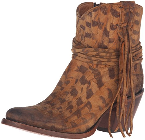 Lucchese Bootmaker Women's Robyn-tan Printed SDE Shorty W/Fring Ankle Bootie, 8 B US