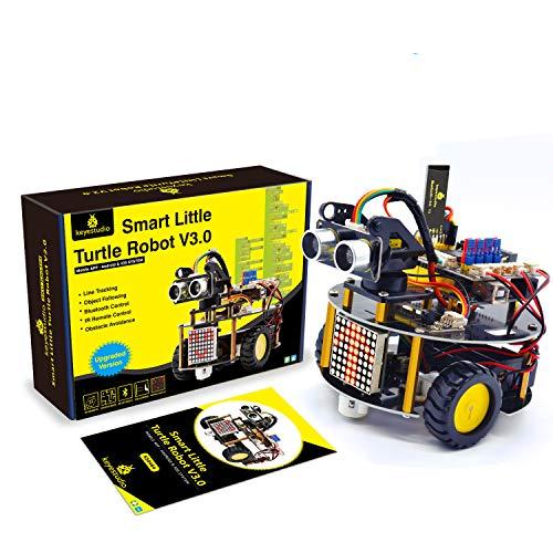 KEYESTUDIO Smart Car Robot Starter Kit for Arduino, Robotics Building Set for Uno R3 for Adults , Coding STEM Educational Electronic Programming Project