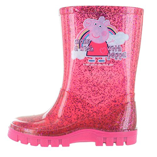 Peppa Pig Glitter Pink Make A Wish Wellington Boots UK Size 10