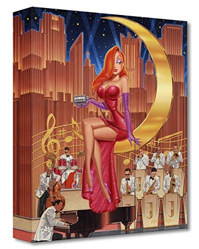 Disney Fine Art A Moon and a Star 16' x 13' Treasures on Canvas Who Framed Roger Rabbit Gallery Wrapped Canvas by Manuel Hernandez