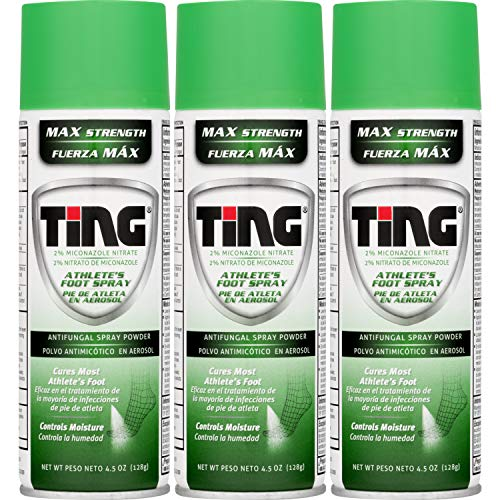 Ting Foot & Jock Itch, Antifungal Spray Powder 4.5 oz (128 g)(Pack of 3)
