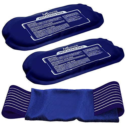 Medvice 2 Reusable Hot and Cold Ice Packs for Injuries, Joint Pain, Muscle Soreness and Body Inflammation - Reusable Gel Wraps - Adjustable & Flexible for Knees, Back, Shoulders, Arms and Legs