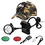 GearOZ Coon Hunting Lights Headlamp 2.0 for Coyotes Hog Predators, 4 Lighting Modes, Rechargeable and Waterproof Hunting Headlight with Camo Hunting Hat, 4ft Power Cable, Larger Battery Capacity