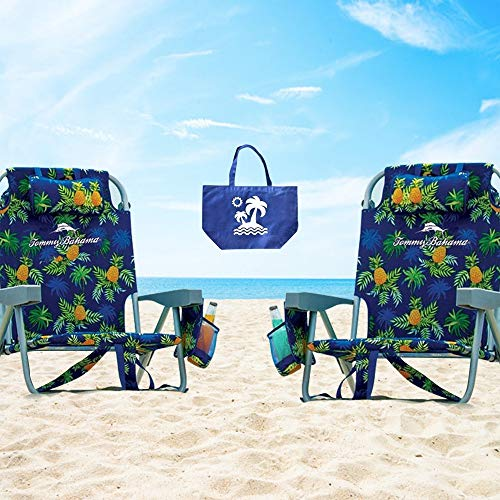 2 Tommy Bahama Backpack Beach Chairs/ Green