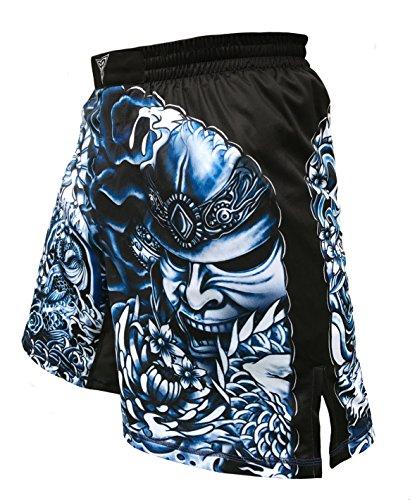 The Ronin - Masterless Samurai- MMA BJJ Martial Arts Wrestling Fight Shorts - Black (XS: Waist 28')