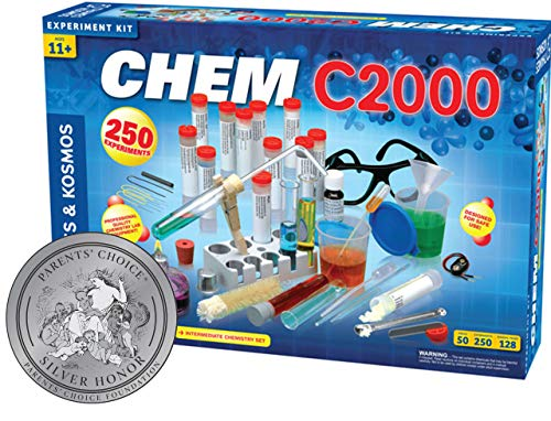 Thames & Kosmos Chem C2000 (V 2.0) Chemistry Set | Science Kit with 250 Experiments and 128 Page Lab Manual, Student Laboratory Quality Instruments & Chemicals | Parents' Choice Silver Award Winner