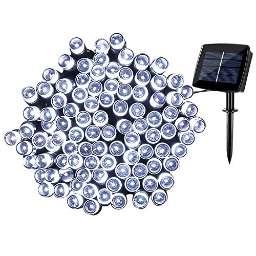 Solar Fairy String Lights Outdoor Waterproof, WOOHAHA 72ft 200LED Updated Version Solar Powered String Lights for Christmas Patio Garden Party(Cool White)