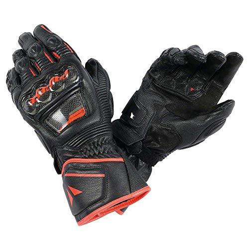 Dainese Druid D1 Long Gloves - Black/Flo Red - LG