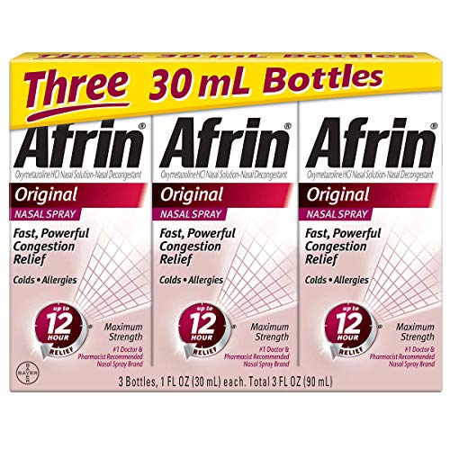Afrin Original Maximum Strength 12 Hour Nasal Congestion Relief Spray - 30 mL
