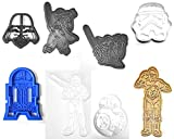 STAR WARS MOVIE CHARACTERS LIGHTSABER SET OF 8 SPECIAL OCCASION COOKIE CUTTERS BAKING TOOL 3D PRINTED MADE IN USA PR1023
