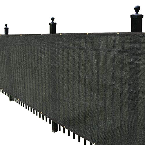Kanagawa 6' x 50' Black Fence Privacy Screen for Patio 6ft Fence Privacy Screen For Outdoor Wall Porch Patio Backyard Balcony
