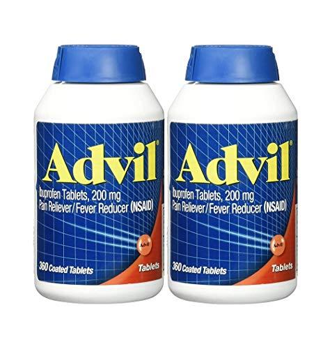 Advil Tablets ( Ibuprofen ), 200 mg, 300 Coated Tablets, Pack of 2